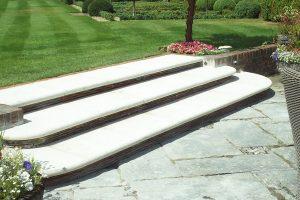 Bespoke garden steps cut by Cranbourne Stone Ltd
