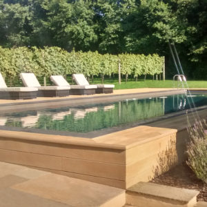 Chattis Black outdoor swimming pool