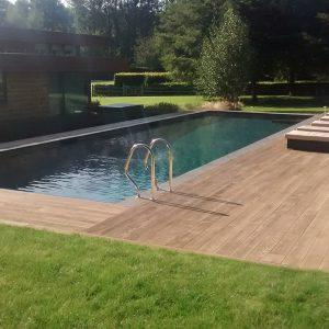 Chattis Black - Basalt pool coping.