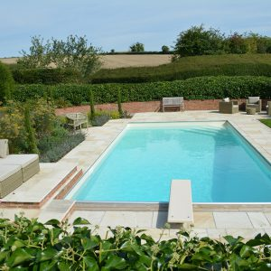 Cotswold Mint pool copings and terrace.