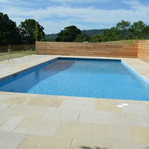 Danebury pool coping and surround.