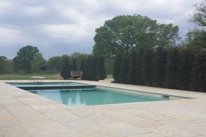 Downton Limestone surround and pool coping.