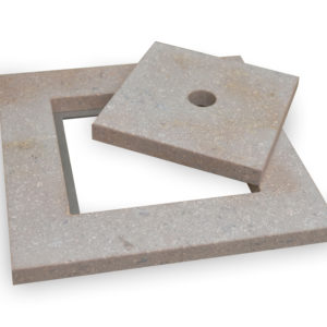 Square skimmer lid in Fossil Pearl Limestone.