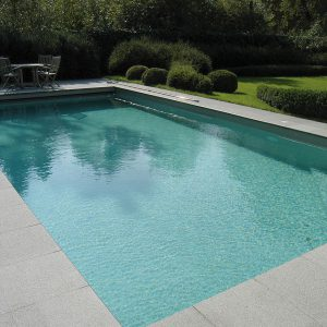 Fullerton Grey tile to pool edge.