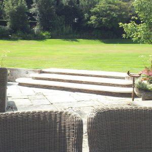 Bespoke garden steps