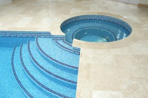 Bespoke spa and pool copings.