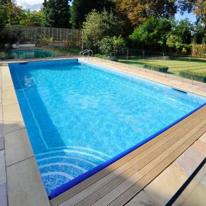 Raj Sandstone bullnosed pool coping.