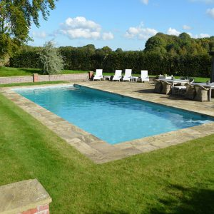 York Stone Natural Cleft pool surround.