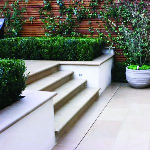 Leckford Sandstone steps in garden