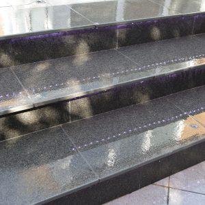 Boston Porcelain steps when wet.