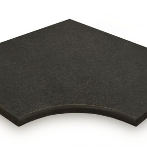 Boston Black Porcelain corner coping
