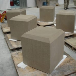 Sandstone plinth stone.