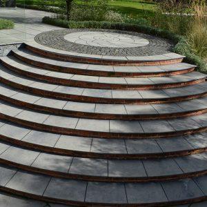 Bespoke Farley Black Limestone steps