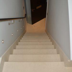 Crema Almera bespoke stairs