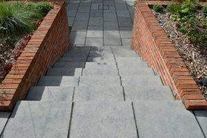 Farley Black Limestone steps to paved area