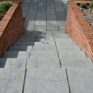 Farley Black Limestone steps to paved area