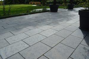 Farley Black Limestone paved area