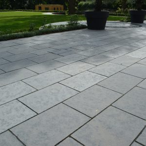Farley Black Limestone paved area