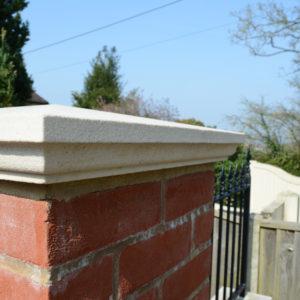 Danebury Sandstone pier cap detail.