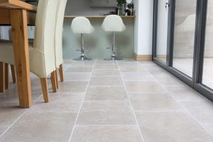 Fossil Pearl Tumbled Grip Indoor Tiles.