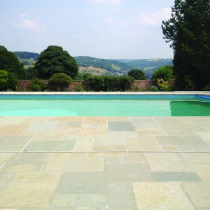 Downton Limestone pool surround and copings