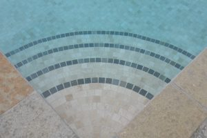 Downton Limestone steps in to pool