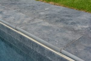 Farley Black Pool coping with full bullnose