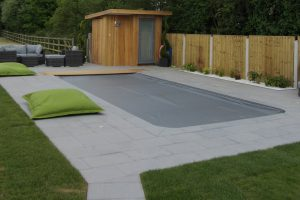 Fullerton Grey Granite pool copings and surround