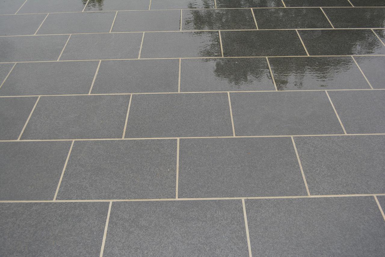 Chattis black basalt cranbourne stone for Basalt pavers