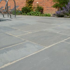 Georgian Grey Antiqued Sandstone Swimming Pool Surround