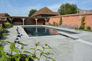 Georgian Grey sandstone around external pool