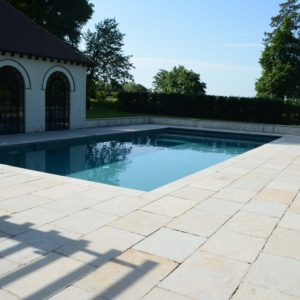 Downton Limestone - pool copings and patio