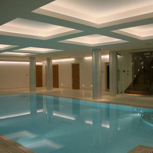 Crema Europa pool copings and surround