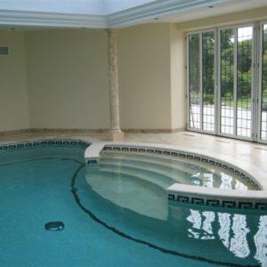 Bespoke Travertine steps to pool