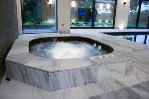 Indoor Spa with Pembury Marble surround upstand