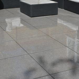 Namur Porcelain on patio when wet.