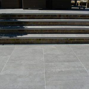 Garda Porcelain steps to patio
