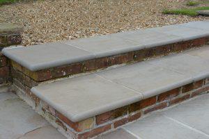 Raj Sandstone step with bullnose