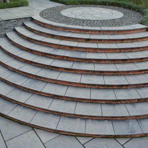 Farley Black Limestone bespoke steps.
