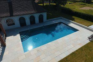 Swimming pool copings - Downton Limestone