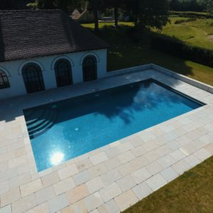 Swimming pool copings - Downton Limestone