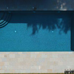 Downton Limestone copings and paving around pool