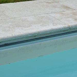 Travertine Tumbled & Unfilled pool coping