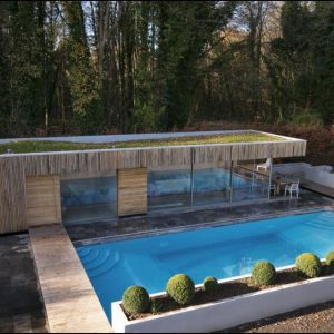 Broughton Sandblasted Limestone outdoor pool