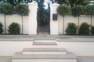 Sawn York Stone bespoke steps and terrace