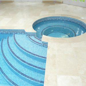 Travertine Honed & Filled bespoke spa surround