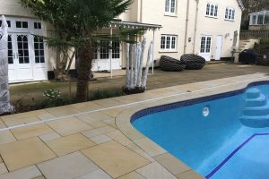 Danebury Sandstone copings and surround