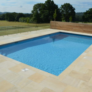 Danebury Sandstone pool coping and paving surround