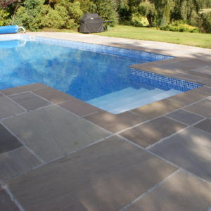 Raj Riven Sandstone pool coping and paving