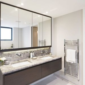 Tundra Marble double vanity unit